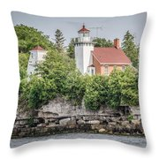 Sherwood Point Lighthouse Throw Pillow