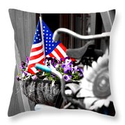 She's A Grand Old Flag Throw Pillow
