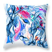 She's All Butterflies Throw Pillow