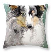 Shetland Sheep Dog Throw Pillow