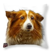 Shetland Sheepdog Dog Art 9973 - Wb Throw Pillow