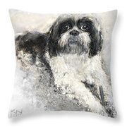 Shi-tzu Throw Pillow