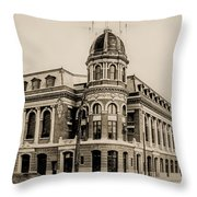 Shibe Park 1913 In Sepia Throw Pillow