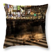 Shibuya Scramble Throw Pillow
