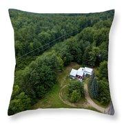 Tilt-shift Farm Throw Pillow
