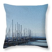Shilshole Bay Marina 2010 Throw Pillow