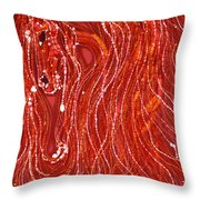 Shimmer Throw Pillow by Carol  Law Conklin