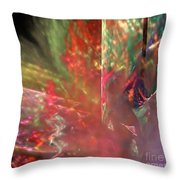 Shimmer Leaves Throw Pillow