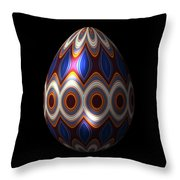 Shimmering Christmas Ornament Egg Throw Pillow