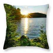 Shimmering Evening Throw Pillow