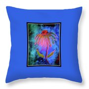 Shimmering Floral Throw Pillow
