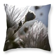 Shimmering Flower II Throw Pillow by Ray Laskowitz - Printscapes