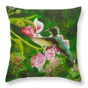 Shimmering Hummingbird  Throw Pillow