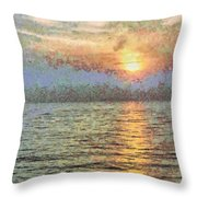 Shimmering Light Over The Water Throw Pillow