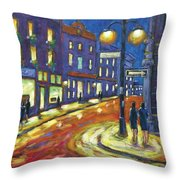Shimmering Night Throw Pillow