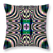 Shimmering Plaid Fractal 66 Throw Pillow