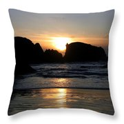 Shimmering Sands Sunset Throw Pillow