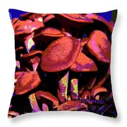 Shimmering Shrooms Throw Pillow