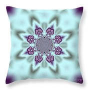 Shimmering Snowflake Throw Pillow