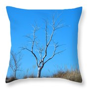 Shimmering Tree Throw Pillow