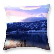 Shimmering Wood Lake Throw Pillow