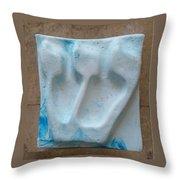 Shin Blue Marine Throw Pillow