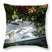 Shindilla Framed With Flowers Throw Pillow