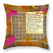 Shine Even In Adversity Throw Pillow