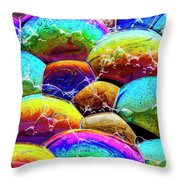 Shiney Bubbles Throw Pillow