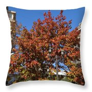 Shining In City Throw Pillow