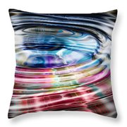 Shining Ripples In Bright Colors Throw Pillow