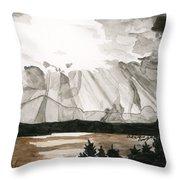 Shining Through The Storm Throw Pillow