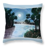 Shining Water Throw Pillow