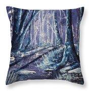 Shining Wood Throw Pillow