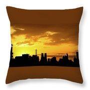 Shinjuku Sunrise Throw Pillow