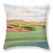 Shinnecock Hills Golf Course Throw Pillow by Bill Holkham