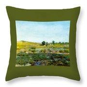 Shinnecock Hills, Summer - William Merritt Chase Throw Pillow