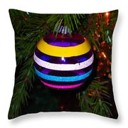 Shinny Brite Ornament Throw Pillow
