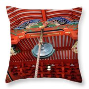 Shinto Shrine Throw Pillow