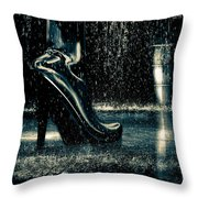 Shiny Boots Of Leather Throw Pillow