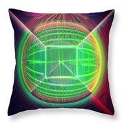 Shiny Globe Throw Pillow