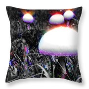 Shiny Happy People Trip Throw Pillow