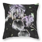 Shiny Irises Throw Pillow