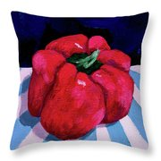Shiny Red Throw Pillow
