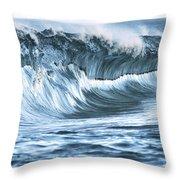 Shiny Wave Throw Pillow