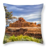 Ship In The Desert Throw Pillow