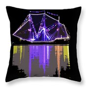 Ship In The Harbor Throw Pillow