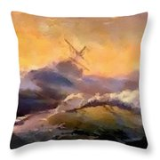 Ship In Trouble H B Throw Pillow