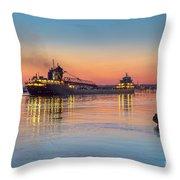 Ship Kaye Barker Reflections -8368 Throw Pillow