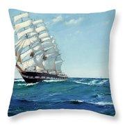 Ship Waimate Throw Pillow